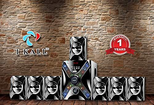 I Kall IK-5555 Multimedia 7.1 Speaker System (Bluetooth, USB, Aux and FM Connectivity)