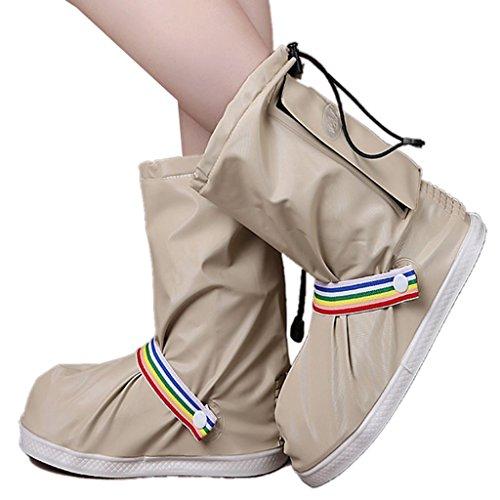 Eagsouni® Regenüberschuhe Wasserdicht Schuhe Abdeckung Stiefel Flache Regen Überschuhe Regenkombi Motorrad Fahrrad Schuhüberzieher Rutschfestem für Damen Mädchen Herren Jungen