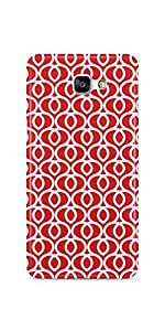Casenation Red Hearts Pattern Samsung Galaxy A9 Glossy Case