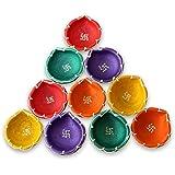 Tiedribbons® Diya Decorative For Diwali   Diya For Diwali Handmade   Diya Gift Set   Diya Holders For Diwali   Diwali Gifts And Decoration(Set Of 10, Handmade)