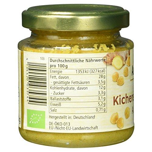 Alnatura Bio Brotaufstrich Kichererbse mit Ingwer, vegan, 6er Pack (6 x 120 g) - 6