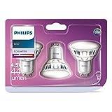 3x PHILIPS LED GU10 reflektor Spot Strahler 4.5W=50W Neutralweiß 4000K 120D