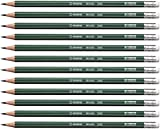 Bleistift - STABILO Othello  - 12er Pack - Härtegrad 2B - mit Radierer