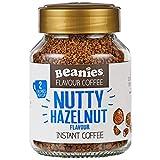6x Beanies Nutty Hazelnut Flavoured Instant Coffee Jars: 50g per jar