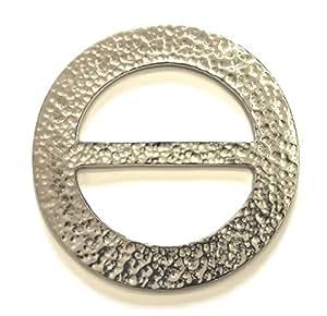 Grand cercle en laiton martelé Écharpe CHASSIS Plaid anneau fabriqué en Écosse