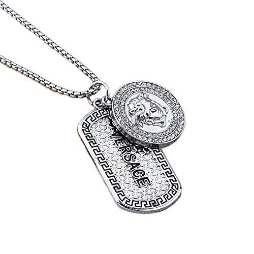 Fashion Mode/Medusa/pendentif/argent/alliage/pendentif/collier (1 PC) (D)