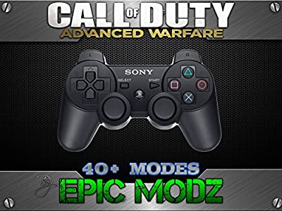 Epic Modz PlayStation 3 PS3 Enhanced Custom Black Controller - Advanced Warfare, Ghosts, Black Ops 2
