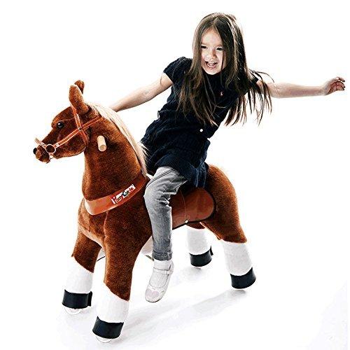 """Ponycycle """" Mister Ed """" Pferd braun, Pony auf Rollen fahrendes Schaukelpferd und Kuscheltier für Ihr Kind von MyPony (Small)"""