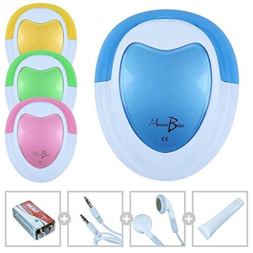 Monsieur Bébé ® Doppler Foetal + Gel + Pile + Écouteur + Câble Audio Pour Pc - 4 coloris - Norme En 60601-1