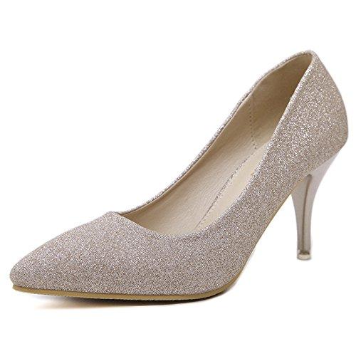 GS~LY Cadeau de fête des mères L'Europe et les États-Unis quatre saisons de talons hauts chaussures de travail sauvages Black