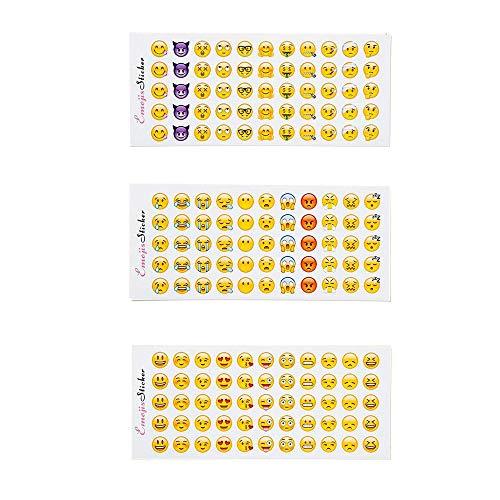si ying Happy Emoji-Sticker 12Blatt Emoji-Sticker von iPhone Facebook Twitter Beliebtes Emoji-Sticker