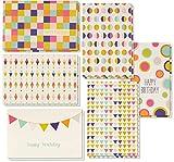 Biglietto di auguri di compleanno–48-pack box set, 6Seamless geometrico design compleanno di blocco, buste incluse, 10,2x 15,2cm