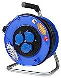 as - Schwabe 11108 Aktions-Sicherheits-Kabeltrommel, blau 285mmØ 40m H07RN-F 3G1,5 schwarz, IP44 Gewerbe, Baustelle