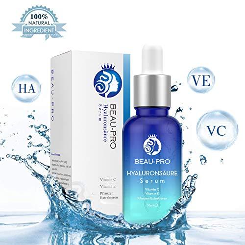 Hyaluronsäure Serum für Gesicht,Hyaluron Konzentrat,Anti-Aging Gesichtsserum,mit Organischen...