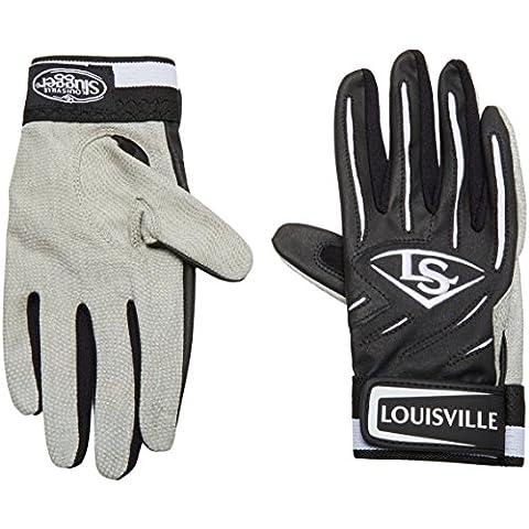 Louisville Slugger-Guanti da battitore BG serie 5, colore: nero, taglia: L