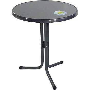 greemotion Table de jardin ronde bistrot - Table de balcon ronde Ø ...