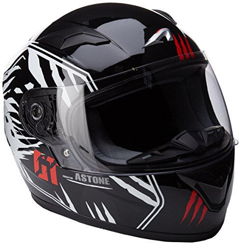 Astone Helmets gt2kg-predator-bwm casco Moto Integral GT Kid, color ne