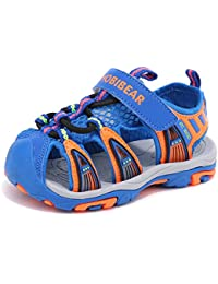 HOBIBEAR Boys Girls Closed Toe Athletic Sandals Outdoor AU3135