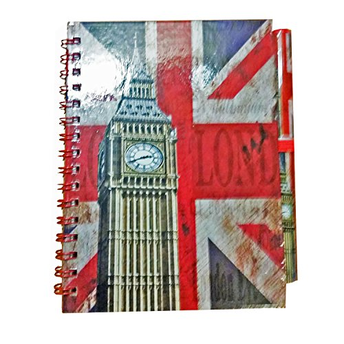 classic-big-ben-clock-notebook-and-matching-pen-distressed-london-union-jack-gb-uk-note-book-notepad