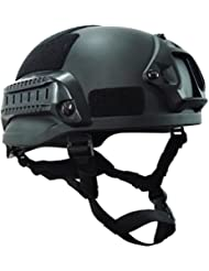 90points casco táctico, ejército–Casco de protección, ABS deportes al aire libre Casco, varios colores, mich2002jx, negro