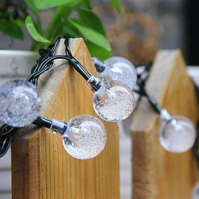 InnooTech 30er LED Solar Globe Garten Lichterkette Außen Kristall 4,5 Meter 30er von Innoo Tech - Du und dein Garten