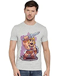 He Man Dc Comic Superhero Graphic Printed Round Neck Bio Washed Half Sleeve T Shirt For Men