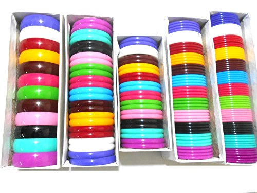 All in one Multicolors Bangles set with all types thick and thin bangles- 5 full boxes set, size 2.4 medium