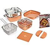Copper Chef pc Sq Cass 12 Piece Square Casserole Cookware Set, Aluminum Core