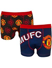 531edf7bba5 Manchester United FC Official Football Gift 2 Pair Pk Mens Crest Boxer  Shorts