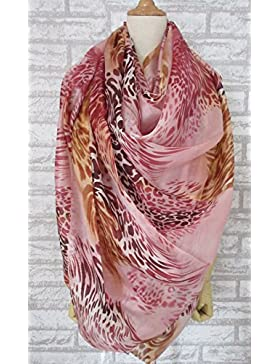 Nueva Rosa extra grande de 100% seda bufanda larga