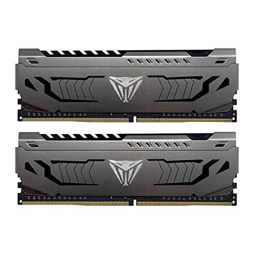 Viper Steel DDR4 3400 16GB (2x8GB) C18 Kit di Memoria Gaming XMP 2.0 Grigio PVS416G340C6K