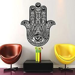 Dormitorio Vinilos decorativos Yoga Fátima Mano de Hamsa indio Ganesh Buda Lotus Adhesivos de vinilo etiqueta decoración de la pared Interior de la casa estudio del diseño del arte MN417