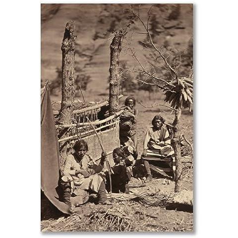 poster art print: Navajoe indiani nativi americani foto (formato A3Maxi–28,8x 43.2cm/11,3x 17in, Carta satinata semi-lucida, regalo Arte Home Decor