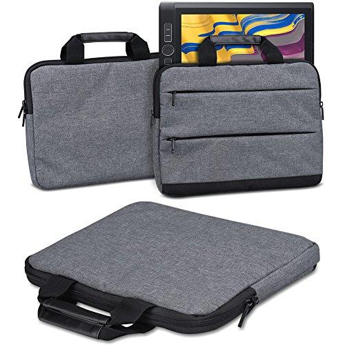 Schutzhülle Wacom MobileStudio Pro 13 Grafiktablett Tasche Sleeve Case Stifttablett Hülle in Grau Tragetasche mit Griffen Universal Schutztasche, Farbe:dunkel Grau