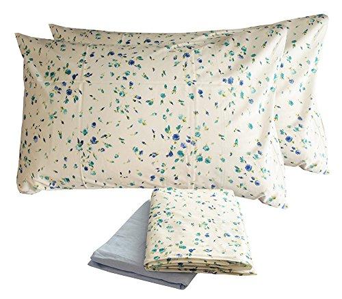 Completo letto matrimoniale lenzuola cotone zucchi due 2 piazze sopra + sotto + 2 federe (lucy - celeste)
