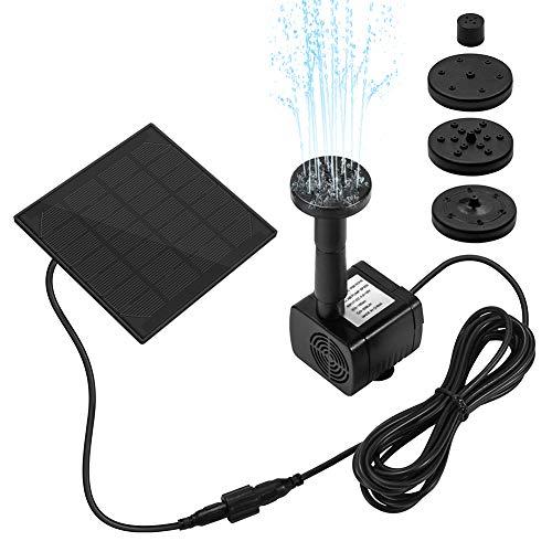 Ankway Bomba de Agua Solar, 1.2W Bird accionada la Bomba de la Fuente del baño Solar Lindo, Panel Derecho Libre Jardín Solar Kit de Bomba de Agua, al Aire Libre riego Bomba Sumergible