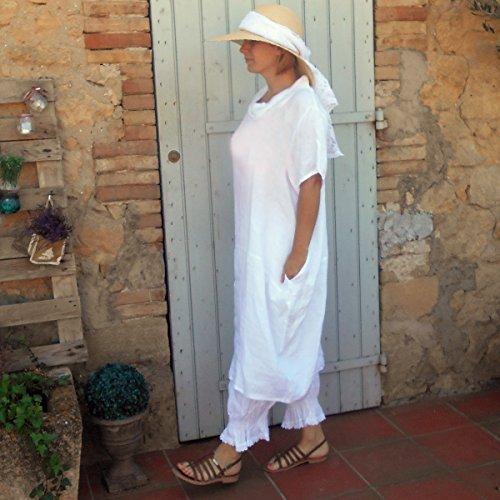 Coklico - Robe Longue Lin - 44 46 48 - M. Carambar Blanc
