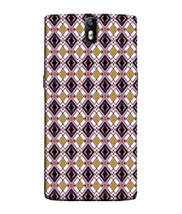 PrintVisa Designer Back Case Cover for One Plus One (mosaic stylish layers complicated pattern)