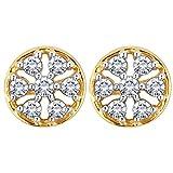 Myzevar 14K Yellow Gold and Diamond Mariko Stud Earrings best price on Amazon @ Rs. 17013