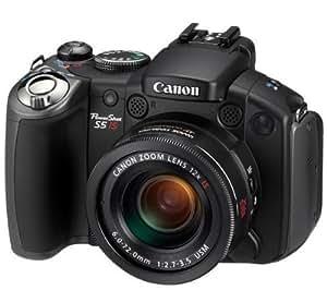 Canon PowerShot S5 IS Digitalkamera (8 Megapixel, 12-fach opt. Zoom, 6,4 cm (2,5 Zoll)Display, Bildstabilisator)