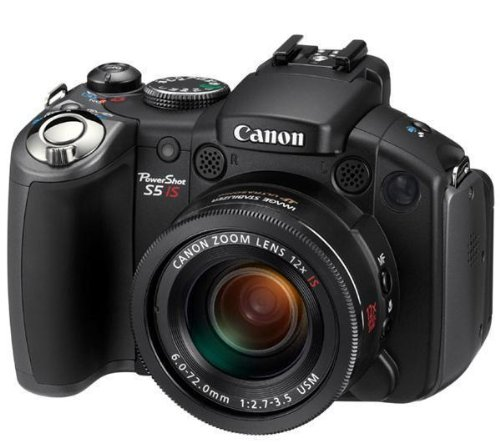Canon PowerShot S5 IS Digitalkamera (8 MP, 12-fach opt. Zoom, 6,4cm (2,5 Zoll)Display, Bildstabilisator) Canon Powershot 8 Mp