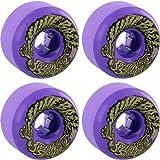 Santa Cruz Skateboards Slimeballs Vomits Mini Neon Purple Skateboard Wheels–56mm 97A (Set of 4)