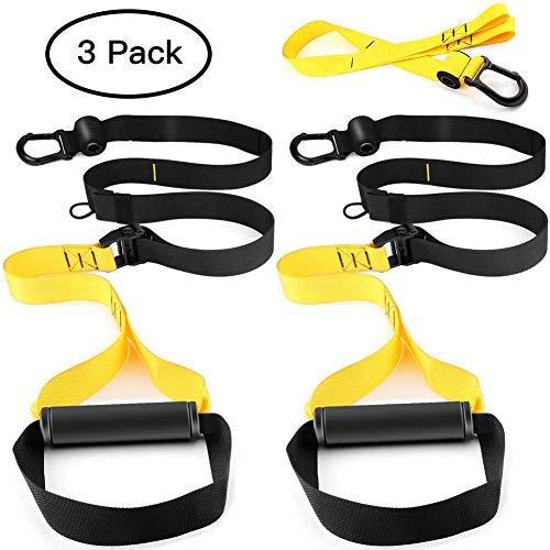 PEXFT Schlingentrainer Sling Trainer Bodyweight Fitness Resistance Straps Trainer Doppelband, Türanker und Tragetasche