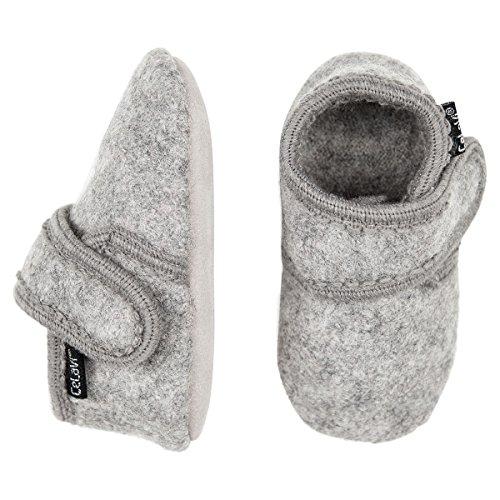CELAVI Unisex-Baby Wool First Walker Shoe, Grey Melange, 19 EU