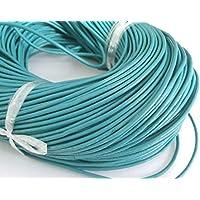 beadsvision Grundpreis1m=0,60/€ 5 m Lederband 2mm schwarz rund Lederschnur Lederriemen Schmuckband