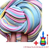 Slime Toy, BBring Fluffy Floam Slime Scented Stress Relief Sensory Toy No Borax Sludge Toy for Kids Adult (B)