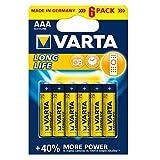 Varta - Pack de 6 pilas alcalinas AAA-LR03