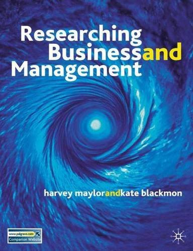 Research Business and Management by Harvey Maylor (2005-07-08)