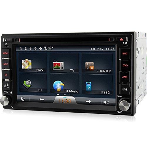 A-Sure Doppel 2 Din DVD Player Autoradio GPS NAVI WiFi 3G* Universal Bluetooth USB MP3 8G-SD