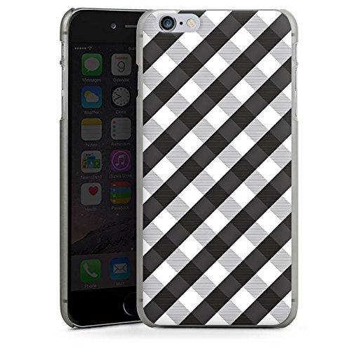 Apple iPhone 5s Housse Étui Protection Coque Carreau Style Noir et blanc CasDur anthracite clair